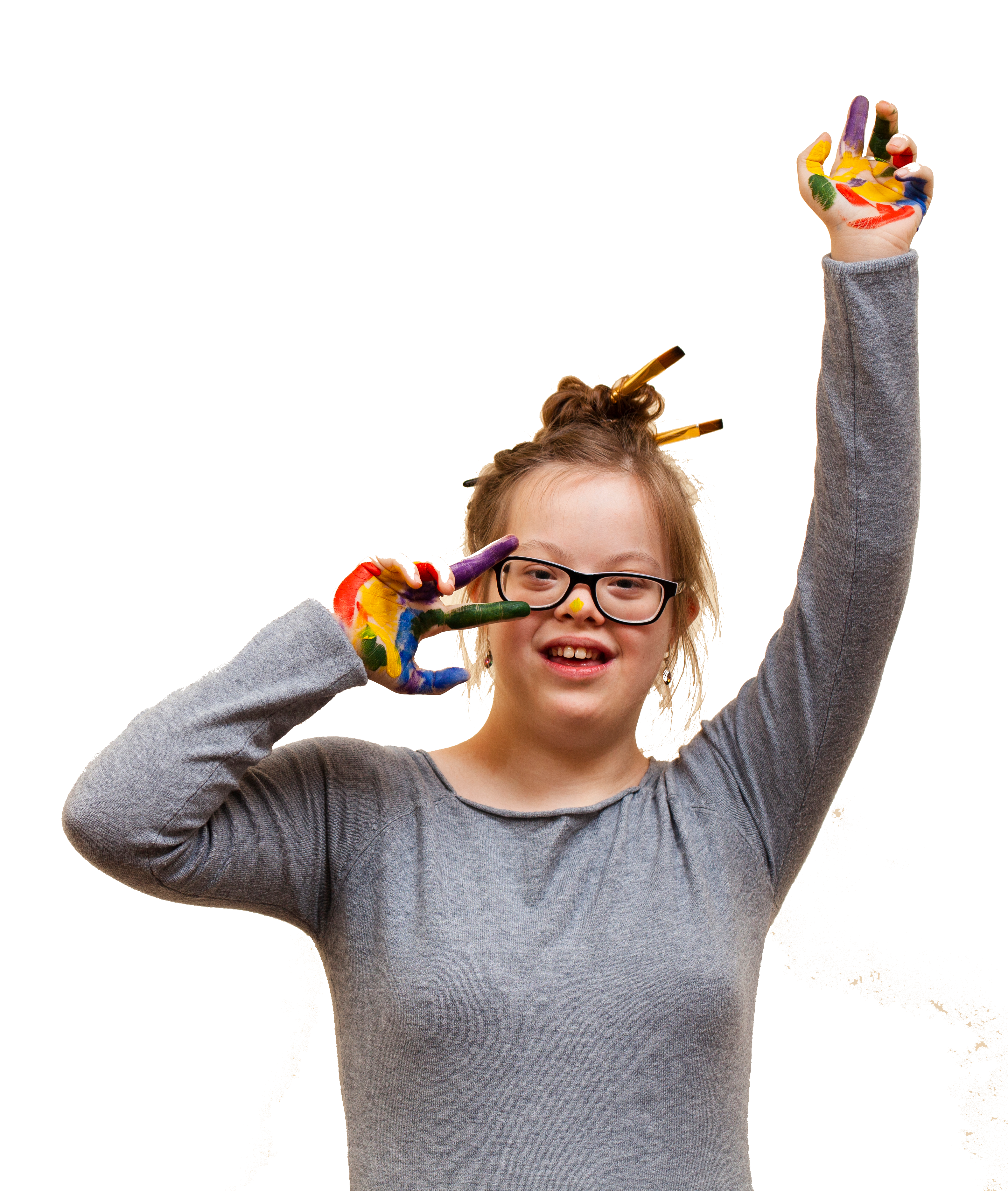 smiley-girl-with-down-syndrome-colorful-palms